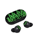 DecalGirl SGB-NFLAMES-GRN Samsung Galaxy Buds Skin - Green Neon Flames (Skin Only)