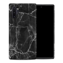 DecalGirl SGN10PHC-BLACK-MARBLE Samsung Galaxy Note 10 Plus Hybrid Case - Black Marble