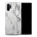 DecalGirl SGN10PHC-WHT-MARBLE Samsung Galaxy Note 10 Plus Hybrid Case - White Marble