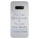 DecalGirl SGS10E-EXCUSE Samsung Galaxy S10e Skin - Excuses or Results (Skin Only)