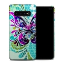 DecalGirl SGS10PCC-BFLYGLASS Samsung Galaxy S10 Plus Clip Case - Butterfly Glass