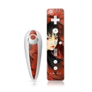 DecalGirl WIINC-BLKFLOWER Wii Nunchuk Skin - Black Flower (Skin Only)