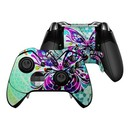 DecalGirl XBOEC-BFLYGLASS Microsoft Xbox One Elite Controller Skin - Butterfly Glass (Skin Only)