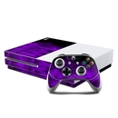 DecalGirl XBOS-CRYST-PRP Microsoft Xbox One S Console and Controller Kit Skin - Dark Amethyst Crystal (Skin Only)