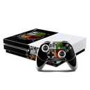 DecalGirl XBOS-DEVILSHERALD Microsoft Xbox One S Console and Controller Kit Skin - Devils Herald (Skin Only)