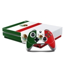 DecalGirl XBOS-MEXICO Microsoft Xbox One S Console and Controller Kit Skin - Mexican Flag (Skin Only)