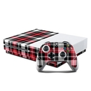 DecalGirl XBOS-PLAID-RED Microsoft Xbox One S Console and Controller Kit Skin - Red Plaid (Skin Only)