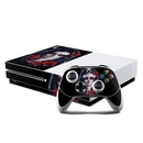 DecalGirl XBOS-SKROSE Microsoft Xbox One S Console and Controller Kit Skin - Sugar Skull Rose (Skin Only)