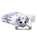 DecalGirl XBOS-TRANQUILITY-PRP Microsoft Xbox One S Console and Controller Kit Skin - Violet Tranquility (Skin Only)