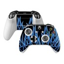 DecalGirl XBOSC-NFLAMES-BLU Microsoft Xbox One S Controller Skin - Blue Neon Flames (Skin Only)