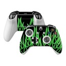 DecalGirl XBOSC-NFLAMES-GRN Microsoft Xbox One S Controller Skin - Green Neon Flames (Skin Only)