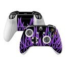 DecalGirl XBOSC-NFLAMES-PRP Microsoft Xbox One S Controller Skin - Purple Neon Flames (Skin Only)