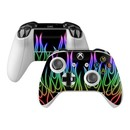 DecalGirl XBOSC-NFLAMES-RBO Microsoft Xbox One S Controller Skin - Rainbow Neon Flames (Skin Only)