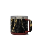 DecalGirl Y14-BLACKGOLD Yeti 14 oz Mug Skin - Black Gold Marble (Skin Only)