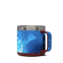 DecalGirl Y14-QWAVES-BLU Yeti 14 oz Mug Skin - Blue Quantum Waves (Skin Only)