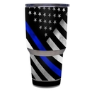 DecalGirl Y30-THINBLINEHERO Yeti Rambler 30 oz Tumbler Skin - Thin Blue Line Hero (Skin Only)