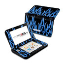 DecalGirl N3DX-NFLAMES-BLU Nintendo 3DS XL Skin - Blue Neon Flames (Skin Only)