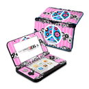 DecalGirl N3DX-PFLWRS-PNK Nintendo 3DS XL Skin - Peace Flowers Pink (Skin Only)