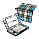DecalGirl N3DX-PLAID-TUR Nintendo 3DS XL Skin - Turquoise Plaid (Skin Only)