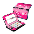 DecalGirl N3DX-RETROFLOWER-PNK Nintendo 3DS XL Skin - Retro Pink Flowers (Skin Only)