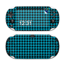 DecalGirl SPSV-HTOOTH-BLU Sony PS Vita Skin - Teal Houndstooth (Skin Only)