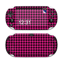 DecalGirl SPSV-HTOOTH-PNK Sony PS Vita Skin - Pink Houndstooth (Skin Only)