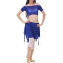 BellyLady Belly Dance Costumes, Off-shoulder Cropped Sheer Top  & Skirt Set