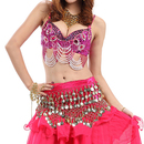 BellyLady Gorgeous Belly Dance Tribal Bra Top With Beaded Fringe