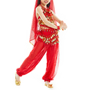 TopTie Kid's Belly Dance Girl Halter Top, Harem Pants, Halloween Costumes Set