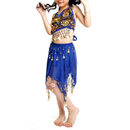 TopTie Kid's Tribal Belly Dance Girl Skirt & Halter Top Set, Halloween Costumes