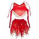 TopTie Kid's Belly Dance Tribal Halter Top & Skirt, Halloween Costumes