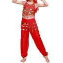 TopTie Kid's Belly Dance Girl Halter Top, Harem Pants, Halloween Costume Set