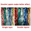 Aspire Long Foil Fringe Photo Backdrops Doorway Window Tinsel Party Curtain 3 ft x 8 ft