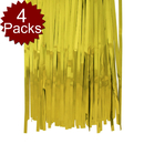 Aspire 4Packs Photo Backdrop for Birthday Party Wedding Decoration Golden Metallic Tinsel Foil Fringe Curtains