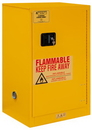 Durham 1016M-50 FM Approved, Flammable Storage Cabinet, 16 Gallon, 1 Door, Manual Close, 1 Shelf, Safety Yellow