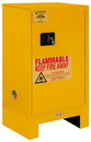 Durham 1016ML-50 FM Approved, Flammable Storage Cabinet With Legs, 16 Gallon, 1 Door, Manual Close, 1 Shelf, Safety Yellow