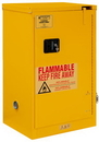 Durham 1016S-50 FM Approved, Flammable Storage Cabinet, 16 Gallon, 1 Door, Self Close, 1 Shelf, Safety Yellow