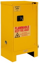 Durham 1016SL-50 FM Approved, Flammable Storage Cabinet With Legs, 16 Gallon, 1 Door, Self Close, 1 Shelf, Safety Yellow