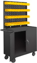 Durham 2210A-32B-LU-95 Mobile Bench Cabinet Louvered Panel and 32 Bins