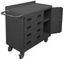 Durham 2211A-LU-95 Mobile Bench Cabinet 36 x 18 x 38-3/8