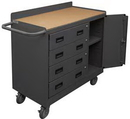 Durham 2211A-TH-LU-95 Mobile Bench Cabinets-TH 36 x 18 x 38-3/8