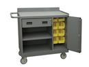 Durham 2212A-BLP-8B-LU-95 Mobile Bench Cabinet-BLP 36 x 18 x 38-3/8