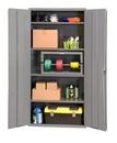 Durham 2501-4S-95 Industrial 16 Gauge Storage Cabinet, 24X36X72, 4 Shelves