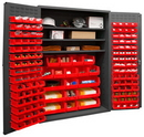 Durham 2502-138-3S-1795 16 Gauge Cabinets with Hook-On Bins and Shelves