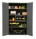 Durham 2502-4S-95 Industrial 16 Gauge Storage Cabinet, 24X48X72, 4 Shelves