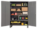 Durham 2506-4S-95 Industrial 16 Gauge Storage Cabinet, 24X60X84, 4 Shelves
