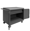 Durham 31001DR-5PU-95 Mobile Bench Cabinet with 5