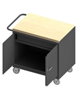 Durham 3115-MT-95 Mobile Bench Cabinet with 5