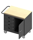 Durham 3121-MT-95 Mobile Bench Cabinet with 5