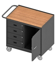 Durham 3121-TH-95 Mobile Bench Cabinet with 5